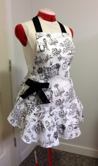 black and white toile print