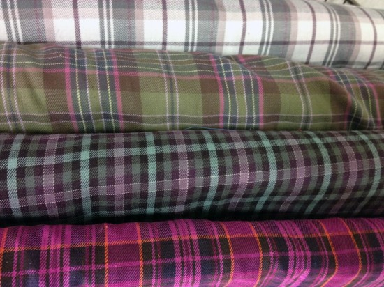 brushed cotton yarn dye plaids